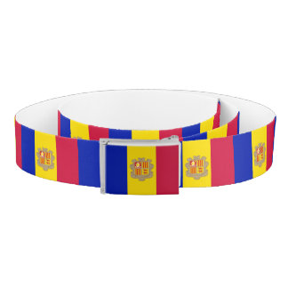 Andorra Flag Belt