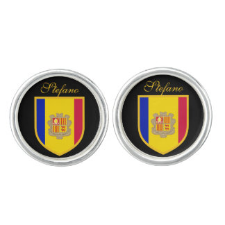 Andorra Flag Cufflinks