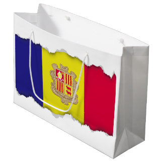 Andorra Flag Large Gift Bag