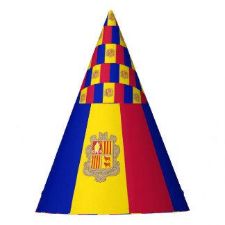 Andorra Flag Party Hat