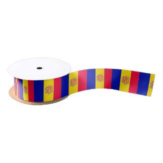 Andorra Flag Satin Ribbon