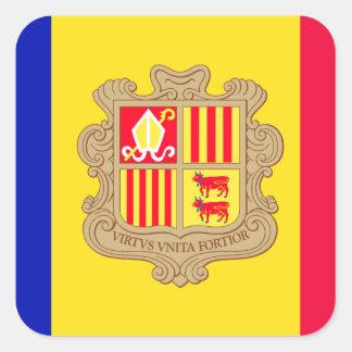 Andorra Flag Square Sticker
