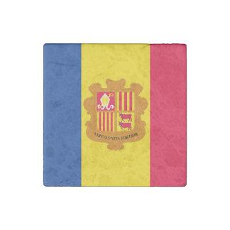 Andorra Flag Stone Magnet