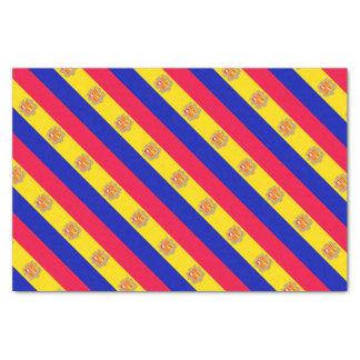 Andorra Flag Tissue Paper