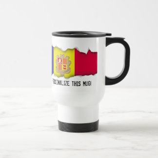 Andorra Flag Travel Mug