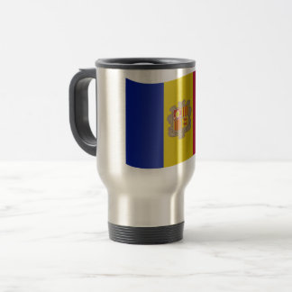 Andorra Flag Travel Mug