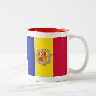 Andorra flag Two-Tone coffee mug
