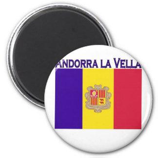 Andorra la Vella 6 Cm Round Magnet