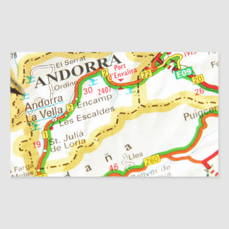 Andorra la Vella, Andorra Rectangular Sticker