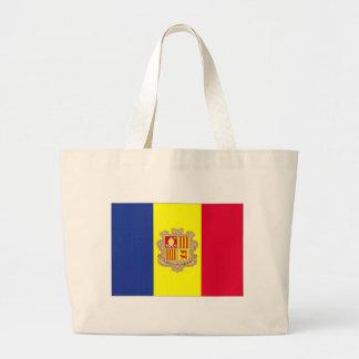 Andorra National Flag Jumbo Tote Bag