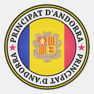 Andorra Round Emblem Classic Round Sticker