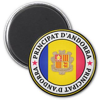 Andorra Round Emblem Magnet