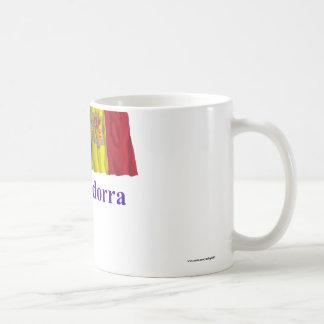 Andorra Waving Flag with Name Mugs