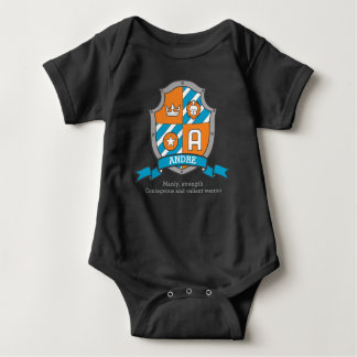 Andre boys A name & meaning knights shield Baby Bodysuit