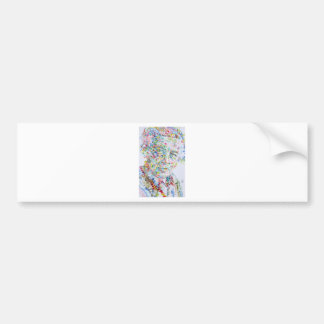 andre breton - watercolor portrait bumper sticker