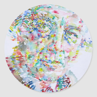 andre breton - watercolor portrait classic round sticker