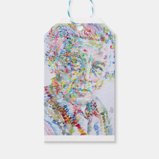 andre breton - watercolor portrait gift tags
