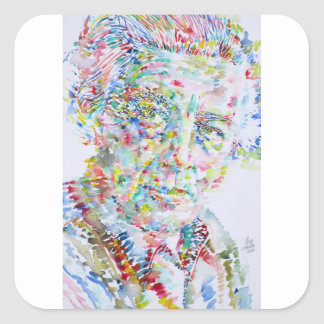 andre breton - watercolor portrait square sticker
