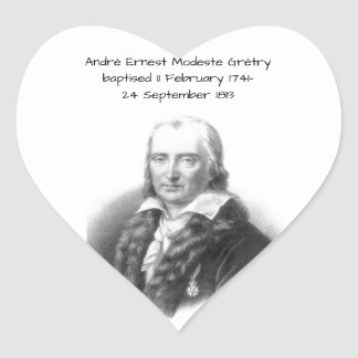 André Ernest Modeste Gretry Heart Sticker