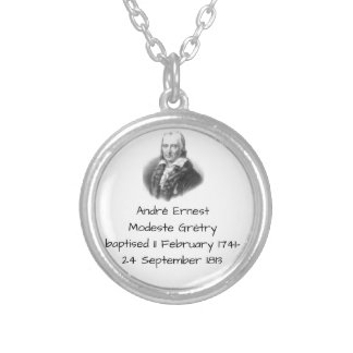 André Ernest Modeste Gretry Silver Plated Necklace