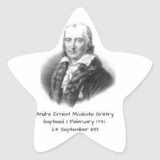 André Ernest Modeste Gretry Star Sticker
