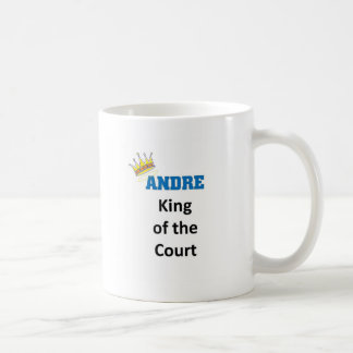 Andre king of the court coffee mug