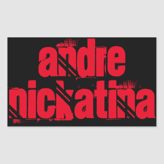 Andre Nickatina Rectangular Sticker