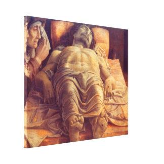 ANDREA MANTEGNA - Lamentation of Christ 1480 Canvas Print