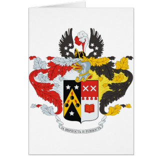 Andreev Family Coat of Arms / Crest Card