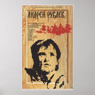 """Andrei Rublev"" by Tarkovsky USSR Soviet Movie1969 Poster"