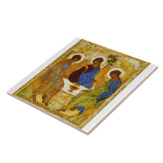 """Andrei Rublev, """"Holy Trinity"""" Ceramic Tile"""
