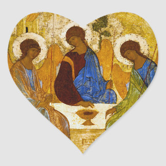"Andrei Rublev, ""Holy Trinity"" Heart Sticker"