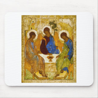 """Andrei Rublev, """"Holy Trinity"""" Mouse Pad"""