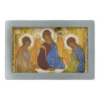 "Andrei Rublev, ""Holy Trinity"" Rectangular Belt Buckles"