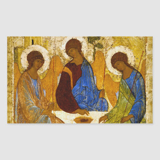 "Andrei Rublev, ""Holy Trinity"" Rectangular Sticker"