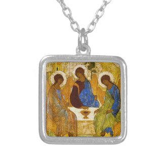 """Andrei Rublev, """"Holy Trinity"""" Silver Plated Necklace"""