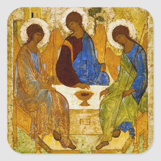 "Andrei Rublev, ""Holy Trinity"" Square Sticker"