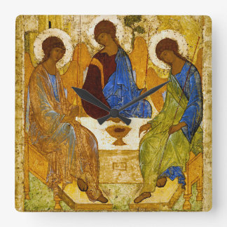 "Andrei Rublev, ""Holy Trinity"" Square Wall Clock"