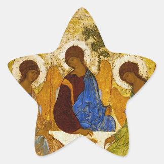 "Andrei Rublev, ""Holy Trinity"" Star Sticker"