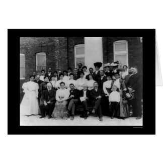 Andrew Carnegie at the Tuskegee Institute 1906 Card