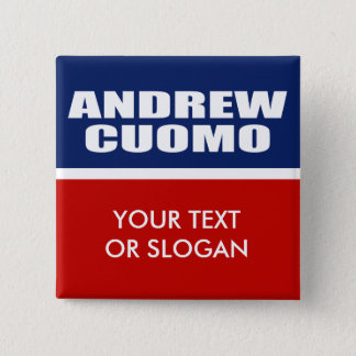 ANDREW CUOMO FOR GOVERNOR 15 CM SQUARE BADGE
