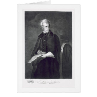 Andrew Jackson, 7th President of the United States Card