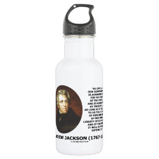Andrew Jackson Government People Will Defending 532 Ml Water Bottle