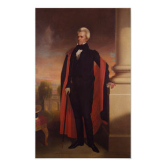 Andrew Jackson Standing Painting Poster