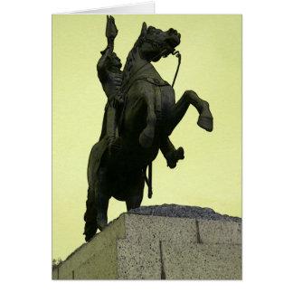 Andrew Jackson Statue Card