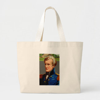 Andrew Jackson Vintage Large Tote Bag