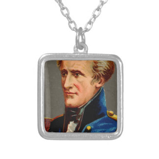 Andrew Jackson Vintage Silver Plated Necklace