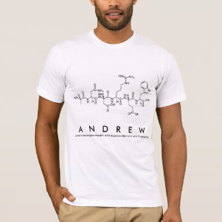 Andrew peptide name shirt