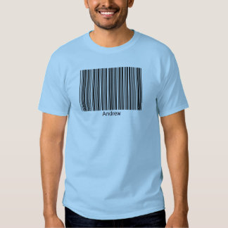 Andrew Personalized Functional Barcode Tee
