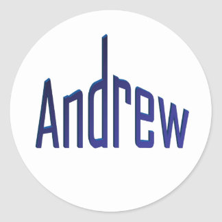 Andrew Round Sticker